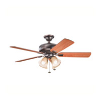 Kichler Lighting Saxon Premier 4 Light Fan in Oil Brushed Bronze 339401OBB