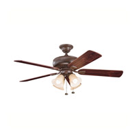 Kichler Lighting Saxon Premier 4 Light Fan in Tannery Bronze 339401TZ