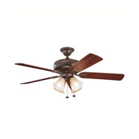 Kichler Lighting Saxon Premier 4 Light Fan in Tannery Bronze 339401TZ alternative photo thumbnail