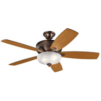 Kichler 339413OBB Monarch Ii Select 52 inch Oil Brushed Bronze with Walnut/Cherry Blades Indoor Ceiling Fan