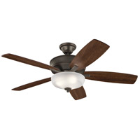 Kichler 339413OZ Monarch Ii Select 52 inch Olde Bronze with Walnut/Cherry Blades Indoor Ceiling Fan