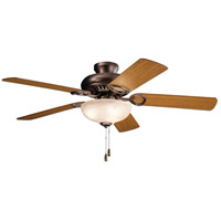 Kichler 339501OBB Sutter Place Select 52 inch Oil Brushed Bronze with Walnut/Cherry Blades Ceiling Fan