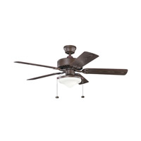 Kichler 339516TZP Renew Select Patio 52 inch Tannery Bronze Powder Coat with Brown Blades Ceiling Fan