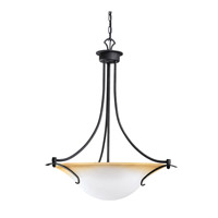 Kichler Lighting Pomeroy 3 Light Inverted Pendant in Distressed Black 3431DBK