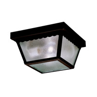 Signature 2 Light 9 inch Black Outdoor Flush Mount
