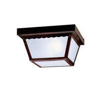 Signature 2 Light 9 inch Tannery Bronze Outdoor Flush Mount