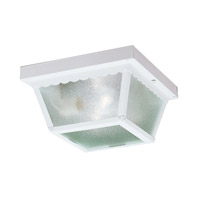 Kichler Lighting Signature 2 Light Outdoor Flush Mount in White 345WH photo thumbnail