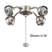 Signature 4 Light Brushed Stainless Steel Fan Fitter