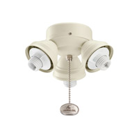 Kichler Lighting 3 Light Turtle Fitter Fan Fitter in Adobe Cream 350010ADC photo thumbnail