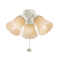 Kichler Lighting 3 Light Turtle Fitter Fan Fitter in Adobe Cream 350010ADC alternative photo thumbnail