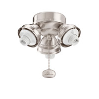 Kichler Lighting 3 Light Turtle Fitter Fan Fitter in Brushed Stainless Steel 350010BSS