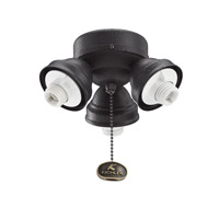 Kichler Lighting 3 Light Turtle Fitter Fan Fitter in Distressed Black 350010DBK photo thumbnail
