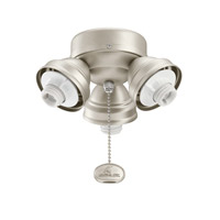 Kichler Lighting 3 Light Turtle Fitter Fan Fitter in Brushed Nickel 350010NI