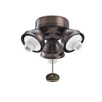 Kichler Lighting 3 Light Turtle Fitter Fan Fitter in Oil Brushed Bronze 350010OBB photo thumbnail