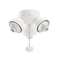 Kichler Lighting 3 Light Turtle Fitter Fan Fitter in Satin Natural White 350010SNW