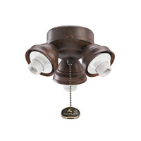 Kichler Lighting 3 Light Turtle Fitter Fan Fitter in Tannery Bronze 350010TZ