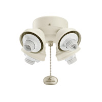 Kichler Lighting 4 Light Turtle Fitter Fan Fitter in Adobe Cream 350011ADC photo thumbnail