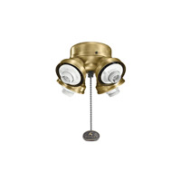 Kichler 350011NBR Accessory 4 Light Natural Brass Fan Fitter photo thumbnail
