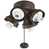 Fan Light Kits 4 Light Satin Natural Bronze Fan Turtle Fitter