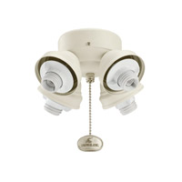 Kichler 350011SNW Fan Light Kits 4 Light Satin Natural White Fan Turtle Fitter