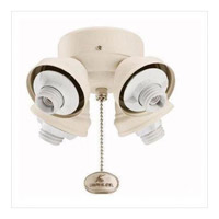 Kichler Lighting 4 Light Turtle Fitter Fan Fitter in Tannery Bronze 350011TZ