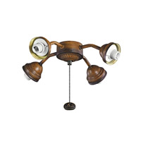 Kichler 350102MDW Fan Light Kits 4 Light Mediterranean Walnut Fan Fitter