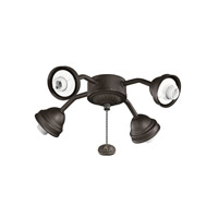 Kichler 350102SNB Fan Light Kits 4 Light Satin Natural Bronze Fan Fitter