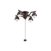 Kichler Lighting 4 Arm Decorative Fitter Fan Fitter in Tannery Bronze 350104TZ
