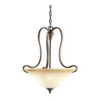 Kichler 3585OZ Wedgeport 2 Light 19 inch Olde Bronze Inverted Pendant Ceiling Light
