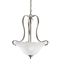 Kichler 3585NIL18 Wedgeport LED 19 inch Brushed Nickel Pendant Ceiling Light