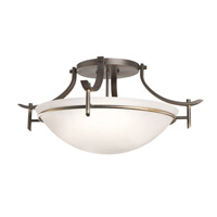 Kichler Lighting Olympia 3 Light Semi-Flush Mount in Olde Bronze 3606OZW