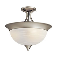Kichler Lighting Signature 3 Light Semi-Flush in Brushed Nickel 3623NIA