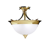 Kichler Lighting Dover 3 Light Semi-Flush in Polished Brass 3623PB photo thumbnail