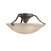 Signature 3 Light 15 inch Olde Bronze Semi-Flush Ceiling Light