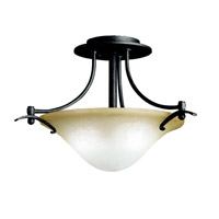 Kichler Lighting Pomeroy 2 Light Semi-Flush in Distressed Black 3644DBK photo thumbnail
