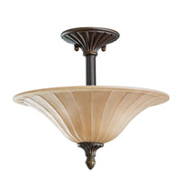 Kichler Lighting Cottage Grove 3 Light Semi-Flush in Carre Bronze 3658CZ photo thumbnail