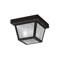 Signature 1 Light 8 inch Black Outdoor Flush Mount