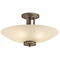 Kichler 3677OZ Hendrik 4 Light 24 inch Olde Bronze Semi Flush Light Ceiling Light in Light Umber Etched photo thumbnail