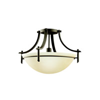 Kichler Olympia 1 Light Semi-Flush in Olde Bronze 3678OZFL