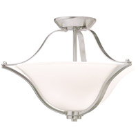 Langford 2 Light 19 inch Brushed Nickel Semi-Flush Ceiling Light