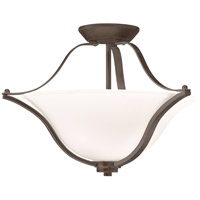 Kichler 3681OZ Langford 2 Light 19 inch Olde Bronze Semi-Flush Ceiling Light
