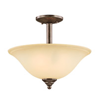 Kichler Lighting Langford 2 Light Semi-Flush in Canyon Slate 3694CST alternative photo thumbnail