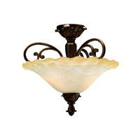 Kichler Lighting Cheswick 2 Light Semi-Flush in Parisian Bronze 3698PRZ