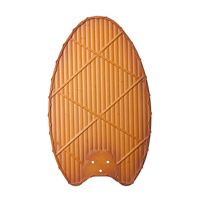 Climates Brown 22 inch each Fan Blade Set, Natural Bamboo