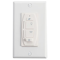 Kichler 6 Speed Wall Transmitter Fan Accessory in White Material (Not Painted) 370036WHTR