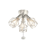 Kichler Fan Accessories 3 Light Fan Light Kit in Brushed Nickel 370041NI