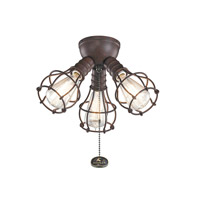Kichler Fan Accessories 3 Light Fan Light Kit in Tannery Bronze 370041TZ