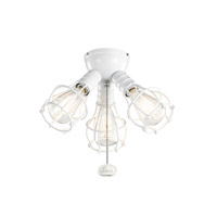 Kichler Fan Accessories 3 Light Fan Light Kit in White 370041WH