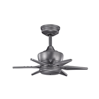 Szeplo Patio Weathered Steel Powder Coat Ceiling Fan