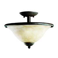 Kichler Lighting High Country 2 Light Semi-Flush in Old Iron 3709OI